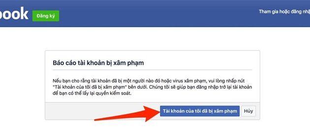 Tài khoan facebook bi hack