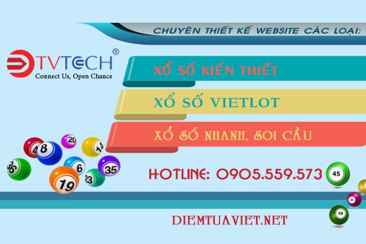 Thiết kế website xổ số, lô đề