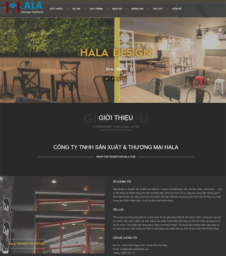 Thiết kế nội thất Hala
