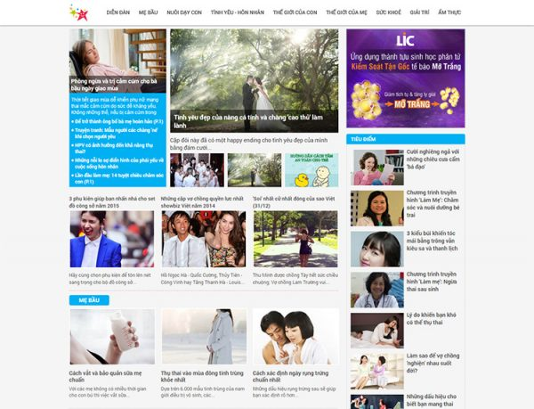 Mẫu thiết kế website tin tức - tạp chíMẫu thiết kế website tin tức - tạp chí