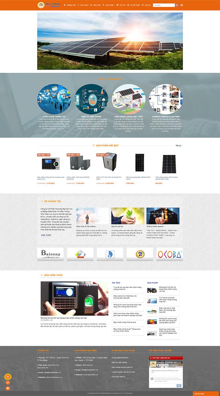Website công ty Vina Toàn Lực