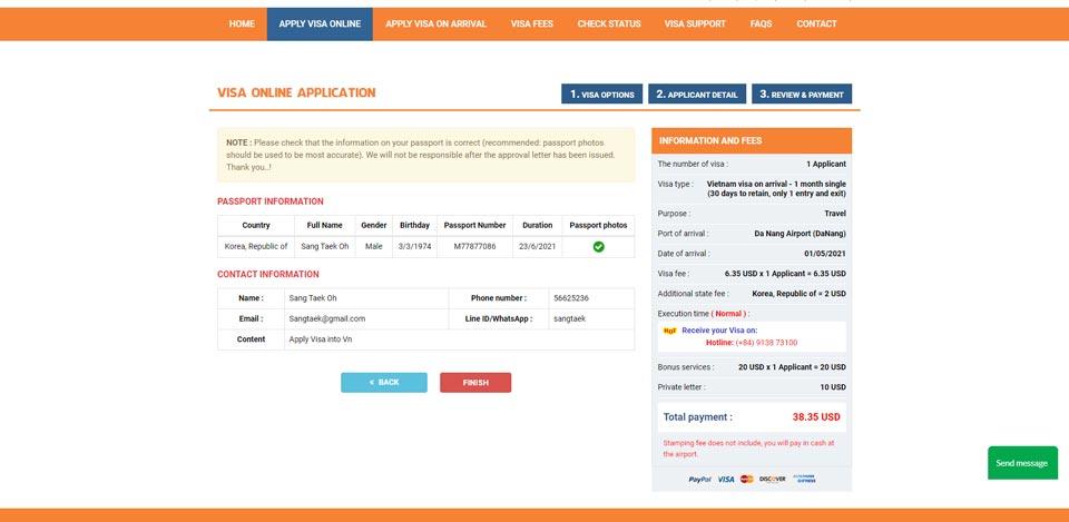 Thiết kế web Apply Visa Online