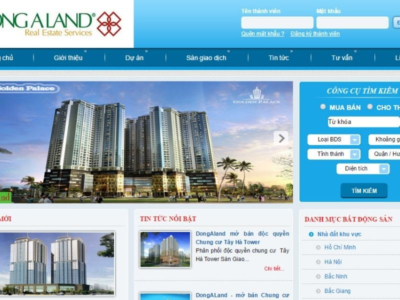 Thiết kế web bđs Đà nẵng