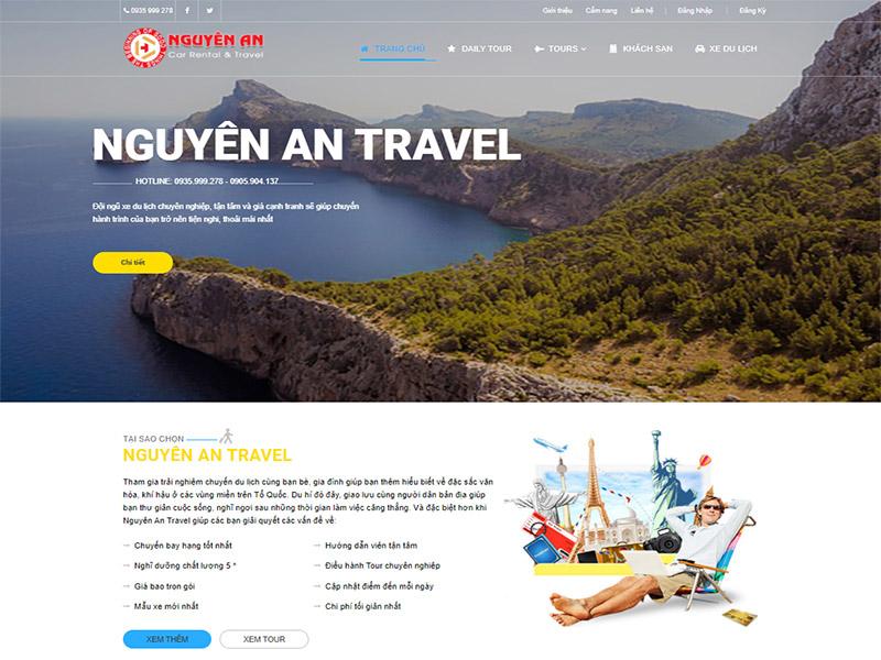thiết kế web du lịch Đà Nẵng